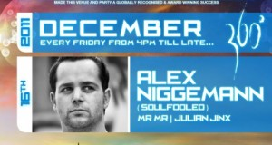 [New Mix] Alex Niggemann Live December 16th, 2011 (Audio Tonic @ 360, Dubai)