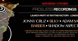 *PARTY TICKET GIVEAWAY* Faceless Recordings Launch Party in London