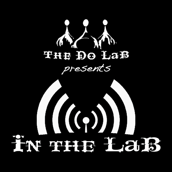 In The LaB logo White on Black