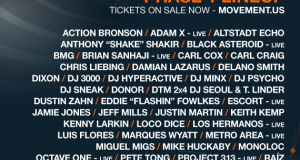Movement 2014 Phase 1 Lineup and Video Flier