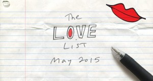 The Love List – Top 20 Tracks May 2015