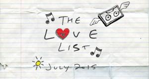 The Love List — Top 20 Tracks July 2015