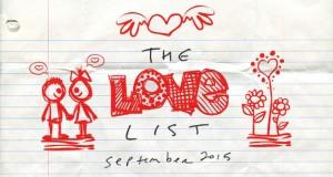 The Love List — Top 20 Tracks September 2015