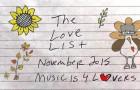 The Love List – Top 20 Tracks November 2015