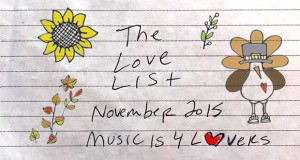 The Love List – Top 20 Tracks November 2015