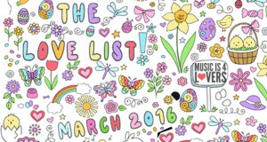 The Love List — Top 20 Tracks March 2016